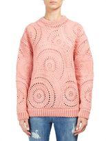 Stella McCartney Macrame Circle Stitch Knit Pullover