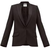 Pallas X Claire Thomson Jonville X Claire Thomson-jonville - Dante Single-breasted Wool-twill Blazer - Womens - Black