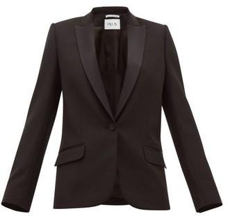 Pallas X Claire Thomson-jonville - Dante Single-breasted Wool-twill Blazer - Womens - Black
