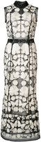 Marchesa embroidered dress - women - Polyester - 2