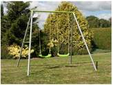 TP Painted Double Swing Set