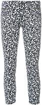 R 13 'Biker Boy' leopard jeans - women - Cotton/Polyurethane - 24