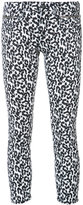 R 13 'Biker Boy' leopard jeans - women - Cotton/Polyurethane - 29
