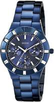 GUESS GUESS? Women's U0027L3 Iconic Blue Plated Multi-Function Watch with Genuine Crystal Accents