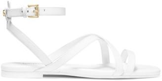 MICHAEL Michael Kors Tasha Leather Flat Sandals