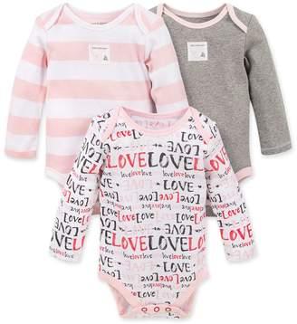 Burt's Bees Love Love Organic Baby Valentine's Day Bodysuits 3 Pack