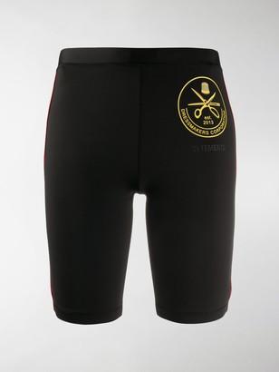 Vetements Graphic-Print Slim-Fit Shorts