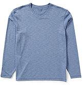Roundtree & Yorke Soft Washed Long-Sleeve Slub V-Neck Tee