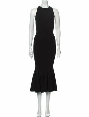 Victoria Beckham Crew Neck Long Dress Black