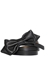 RED Valentino Pointed Bow Nappa Leather Belt