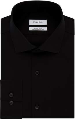 Calvin Klein Men's Dress Shirt Xtreme Slim Fit Non Iron Herringbone
