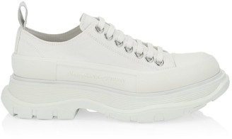 Alexander McQueen Women's Chunky Leather Platform Sneakers
