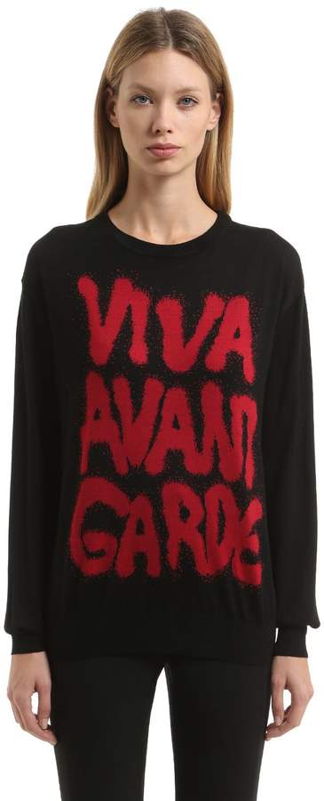 Jeremy Scott 20th Anniversary Intarsia Wool Sweater