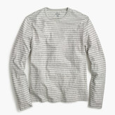 J.Crew Nautical-striped long-sleeve T-shirt in heathered cotton