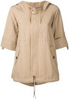 GUILD PRIME oversized hooded jacket - women - Cotton/Nylon - 34