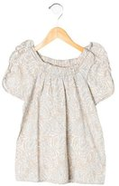 Little Marc Jacobs Girls' Ruffle-Trimmed Printed Top