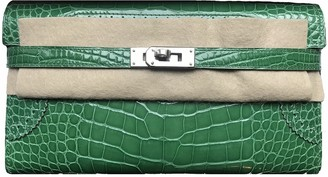 Hermes Kelly Green Alligator Wallets