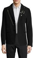 Diesel Black Gold Jepunk Wool Embellished Sportcoat