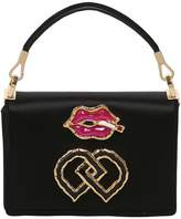 DSQUARED2 Small Lips Charm Satin Shoulder Bag