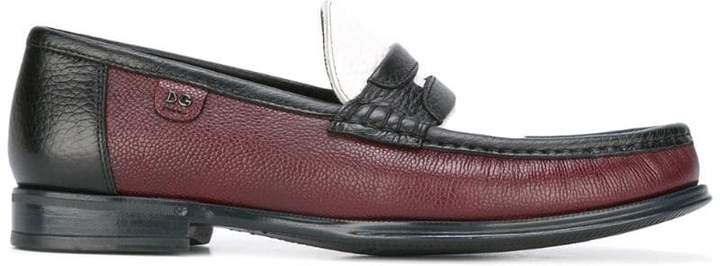 Dolce & Gabbana brushed leather loafers