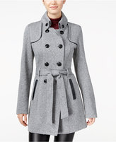 Amy Byer Juniors' Double-Breasted Military Coat