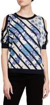 Antonio Marras Diagonal-Striped Cold-Shoulder Sweater