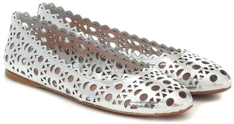 Alaia Leather ballet flats