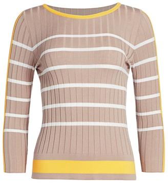 Piazza Sempione Ribbed Striped Sweater