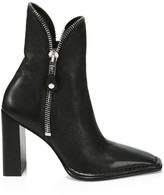 Alexander Wang Lane Zipper-Trimmed Leather Ankle Boots