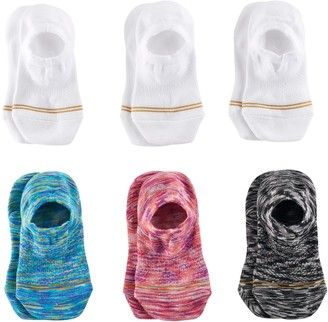 Gold Toe Girls 7-16 GOLDTOE 6-pk. Space-Dye & Solid Liner Socks
