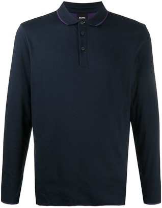 HUGO BOSS Long-Sleeved Polo Shirt