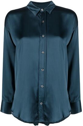Katharine Hamnett Silk Long-Sleeved Shirt
