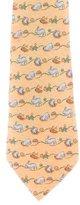 Hermes Silk Twill Tie