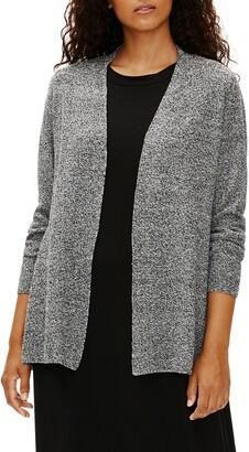 Eileen Fisher Organic Cotton & Linen Shaped Cardigan