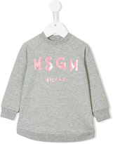 MSGM logo print sweatshirt dress