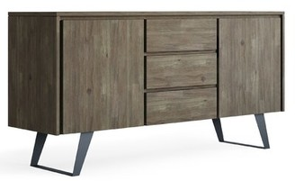 """Union Rustic Elle 60"""" Wide 3 Drawer Acacia Wood Buffet Table Color: Distressed Gray"""