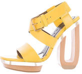 Marni Leather Architectural Sandals