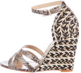 Schutz Jolene Embossed Wedge Sandals w/ Tags