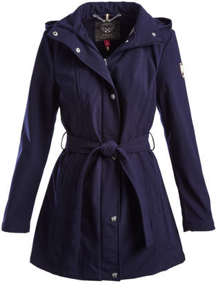 Vince Camuto Women's Non-Denim Casual Jackets NAVY - Navy Belted Hooded Trench Coat - Women