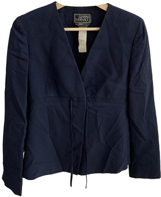 Gianni Versace Navy Silk Jacket for Women Vintage