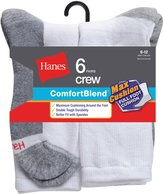 Hanes ComfortBlend Men`s 6-Pack Max Cushion Crew Sock, MC10/6