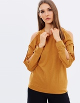 Whistles Open Weave Shoulder Sweater
