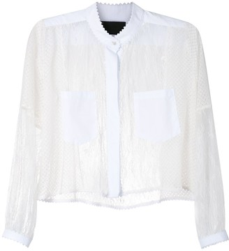 Andrea Bogosian Sheer Lace Shirt