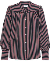 Frame Chloe Striped Silk Shirt - Navy