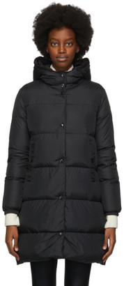 Moncler Black Down Burgaux Coat