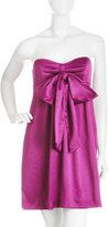 Nicole Miller Strapless Bow Dress, Fuchsia