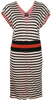 Jean Paul Gaultier Pre Owned striped V-neck dress