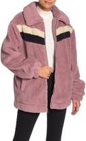 Retro Faux Shearling Teddy Jacket