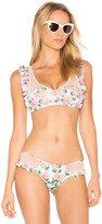 Wildfox Couture Dusty Rose Print Winona Top