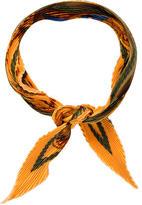 Hermes Grande Tenue Silk Plissé Scarf